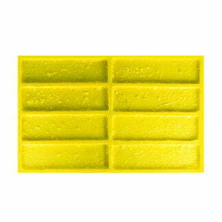 "Flexible polyurethane-mold for wall tiles for decorative stone ""Travertin-brick"""