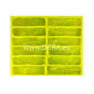 Flexible polyurethane-mold for wall tiles for decorative stone