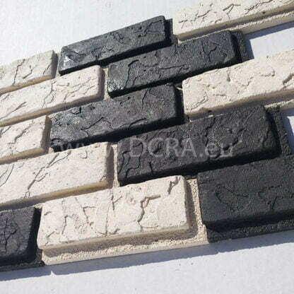 """Flexible polymer forms for plasterboard """"Larnaka"""" (12 subspecies of brick). Size 165 x 60 x 18 mm"""