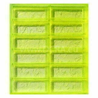 """Formy elastyczne polimerowe do płyt gipsowo-kartonowych """"Larnaka"""" (12 podgatunków cegły) Rozmiar 165 x 60 x 18 mm"""